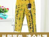 欧莱芬品牌七分裤欧美紧身弹力中腰大码女裤外贸原单女式休闲裤
