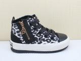 芭芭鸭童鞋 正品2014女童高帮侧拉链帆布鞋运动鞋型号c1170