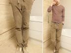 秋冬男士新款加厚灯芯绒裤松紧腰带 直筒 修身 百搭 卡其色休闲裤