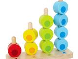 数字堆堆乐 RB03叠叠乐儿童玩具木制串珠分类宝宝益智力早教玩具