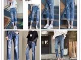 厂家小脚牛仔裤哪里有几元特价尾货女装牛仔裤几块钱服装货源批发
