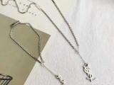 YSL圣罗兰纯银项链爆款一比一完美工艺