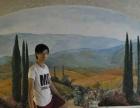 江门3D画手绘江门墙绘涂鸦房地产样板房商铺壁画