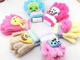 ST039 韩版儿童五指手套 冬季保暖针