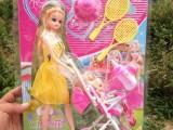 爆款 地摊 芭比娃娃 888 女孩玩具 小推车 9元9首选义乌