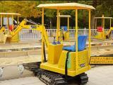 儿童游乐挖掘机游乐场大型仿真遥控电动挖掘机儿童室内外挖土机