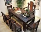 重庆老船木茶桌椅组合实木茶桌简约客厅中式茶台功夫茶几复古家具