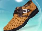 夏季运动休闲男士凉鞋真牛皮男网鞋透气鞋缕空洞洞鞋男打孔凉皮鞋