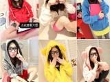 2014春装新款韩版女装潮熊耳朵大帽子拉链带帽薄外套薄卫衣女外套