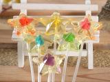 金稻谷棒棒糖 水果口味糖 10克长棒五角星 韩式创意水晶糖果批发