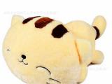 厂家批发卡通瞌睡猫布娃娃 可爱猫咪毛绒玩具 外贸库存公仔定制