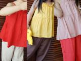 AJA定制童装 女宝新款夏吊带无袖上衣桔黄红裸三色女童吊带衫童装