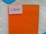 专业生产 橙色方形天光有色玻璃 钢化滤色镜有色光学玻璃加工