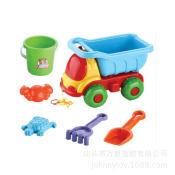 热销沙滩玩具 儿童沙滩戏水玩沙玩具车套装 玩沙户外玩具6件套