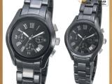 新款高档陶瓷手表 男女款对表 厂家定制 情侣腕表 男士腕表