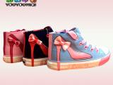 厂家直销2014秋季新款女童鞋儿童帆布鞋一件代发