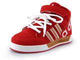 新款品牌高帮童鞋 魔术贴外贸男女童鞋 真皮防滑运动鞋厂家直销