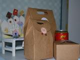 HZ-010 大号韩网牛皮纸饼干袋 手提袋定做 西饼盒袋烘焙包装