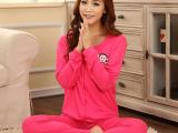 秋季新款女家居服一件代发韩版牛奶丝可爱卡通三件套居家服批发