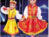 蒙古舞蹈裙儿童演出服装民族新疆女童儿童民族舞蹈服装舞台表演服