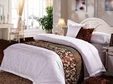 厂家直销 星级酒店宾馆床尾巾 高档床尾垫 酒店布草 床品装饰品