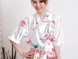 爆款815夏季女士可爱性感短袖睡袍两件套