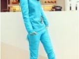 2013羽绒棉套装三件套卫衣女春秋韩版学生休闲套装潮大码