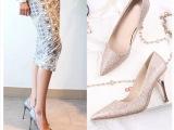 批发外贸原单女鞋 来自星星的你同款高跟鞋 韩版单鞋微信女鞋货源