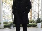 冬装新款 韩版百搭双排扣圈圈羊毛呢大衣獭