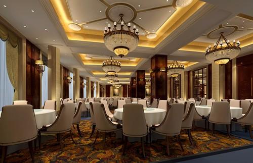 重庆两江新区餐厅酒楼装修设计,特色餐饮门面装饰设计