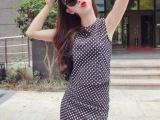 269洋气新店性感露脐短款背心高腰波点短裙半身裙套装