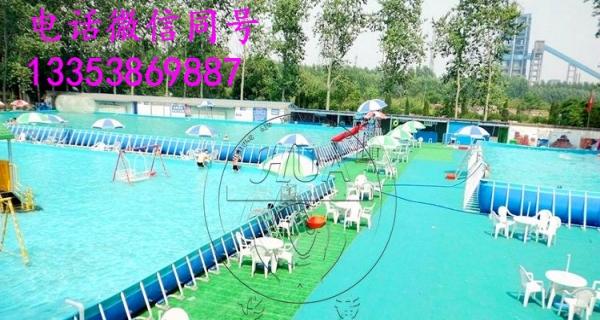 充气蹦蹦床支架水池水上滑梯水上乐园