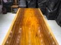 奥坎大板实木大板原木无拼接餐桌会议桌办公桌茶桌画案茶台茶几