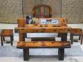 实木仿古家具老船木茶桌椅组合简约休闲古典泡茶桌