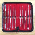 进口便携技工蜡型工具包 蜡型工具十件套装