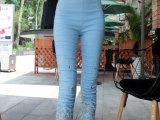2015年夏季新款韩版气质蕾丝绣花七分裤打底裤女 女式薄款打底裤