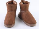 2014女式情侣雪地靴批发 低帮保暖暖鞋 冬季纯色短靴子 淘宝热