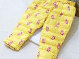 2014新款韩版儿童羽绒裤 女童可外穿保暖小熊品牌90%白鸭羽绒裤