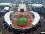 同欣广州天河体育中心环保橡胶跑道案例预制型跑道厂家直销