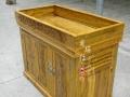花梨木鱼缸水族箱中型榆木鱼缸柜实木鱼缸底柜