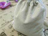 厂家直供时尚新款麻布青花束口袋 礼品首饰袋 拉绳袋多色可选