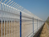 厂家批发锌钢护栏铁艺围栏小区庭院围墙铁栅栏蓝白围墙护栏可定制
