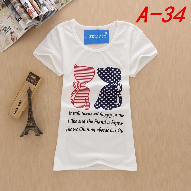 白色夏装女士女式T恤 短袖T恤批发威信Ayifupifa