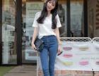 全国哪儿有长短牛仔裤2016新款韩版小脚女装牛仔裤地摊便宜批