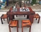 赤峰市老船木茶桌椅子仿古茶台实木沙发茶几餐桌办公桌家具博古架