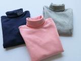 超值热卖童装批发  出口原单正品8002  纯棉女童高领打底衫