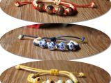陶瓷编织手链 景德镇碎花珠子手链 纯手工复古风绳子可调节首饰
