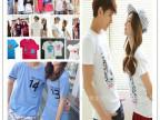 2015夏季新款韩版情侣装T恤批发 纯棉男女装 地摊货短袖情侣衫