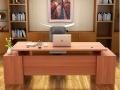 重庆办公家具实木贴皮老板桌 总裁经理主管办公桌 大班台办公台
