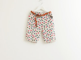 外贸童装 女儿童彩色圆点翻遍新款休闲裤 纯棉中裤 L08-252